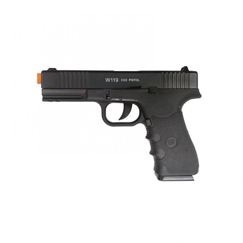 PISTOLA DE AIRSOFT CO2 W119 BLOWBACK SLIDE METAL