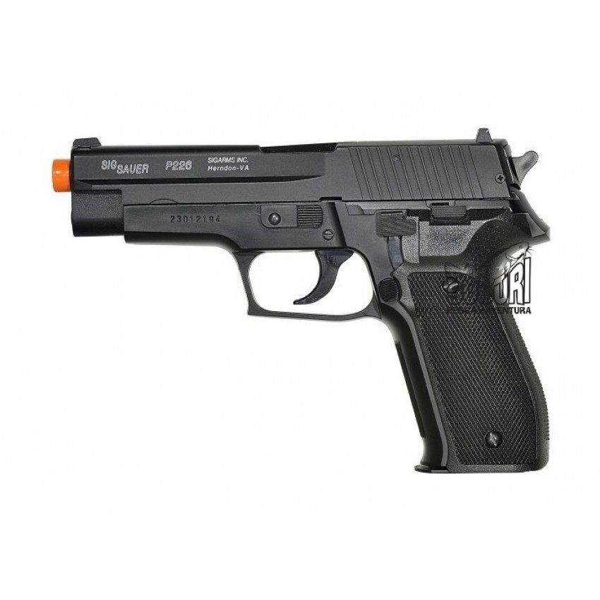 PISTOLA AIRSOFT SIG SAUER P226 SLIDE METAL 6MM