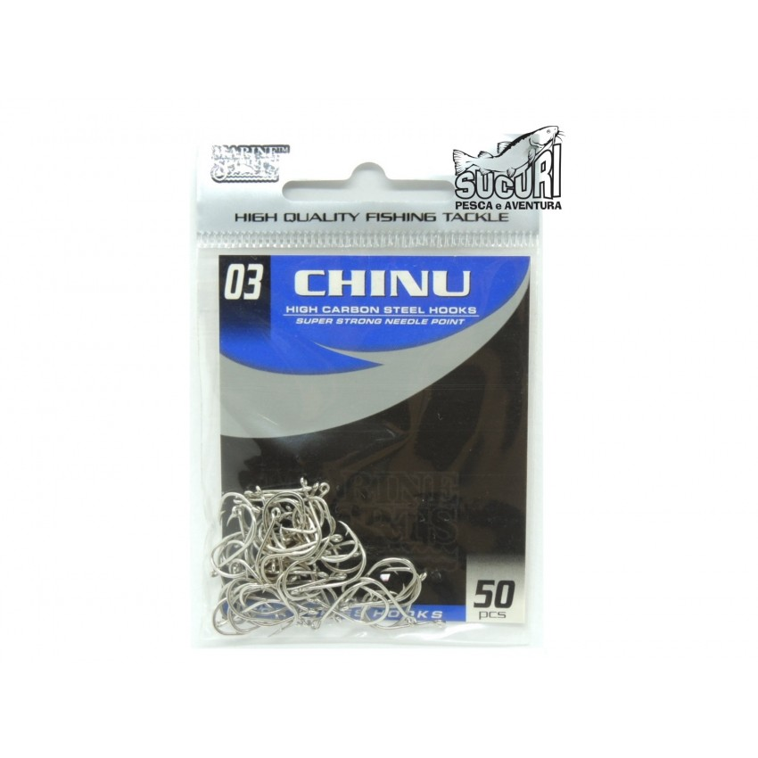 ANZOL CHINU NICKEL N.3 C/ 50PÇS