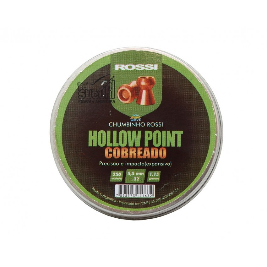 CHUMBINHO HOLLOW POINT COBREADO 5.5MM